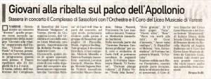 la Prealpina - Concerto per rassegna ENDAS Teatro Apollonio Varese 10-01-2009