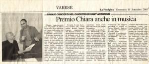 la Prealpina - premio Chiara 11-09-2005